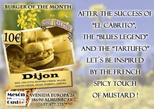 Gourmet Burgers! Mesón Del Gusto has launched their new Burger of the Month program. This is in addition to their standard menu, menu of the day, and other special menus. Here is the burger for January! They speak a few languages! Enjoy. Read more on https://directory.almunecarinfo.com/listing/meson-del-gusto/