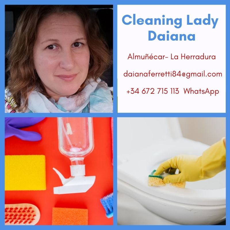 Cleaning Lady Daiana Almunecar La Herradura. Cleaning lady Daiana is here to provide professional cleaning services for your home or rental. Servicing the Almuñécar and La Herradura area for home cleanings, ironing, laundry, making beds and more. Read all about it on Almunecarinfo.com